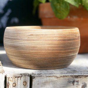 Vintage Raw Wood Bowl Unique